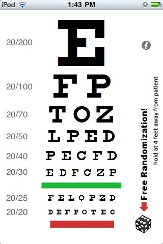 Test Your Eyes Using Eye Chart For The Itouch Itouch Tech Talk